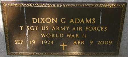 ADAMS, DIXON G. - Sarpy County, Nebraska   DIXON G. ADAMS - Nebraska Gravestone Photos