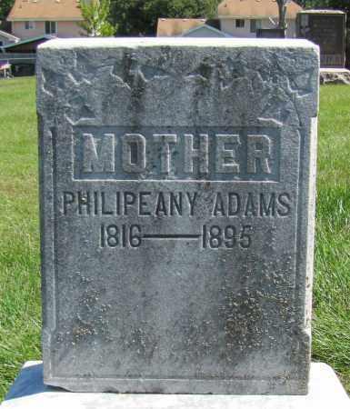 ADAMS, PHILIPEANY - Sarpy County, Nebraska | PHILIPEANY ADAMS - Nebraska Gravestone Photos