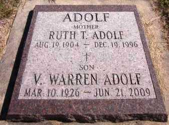 ADOLF, RUTH T. - Sarpy County, Nebraska | RUTH T. ADOLF - Nebraska Gravestone Photos