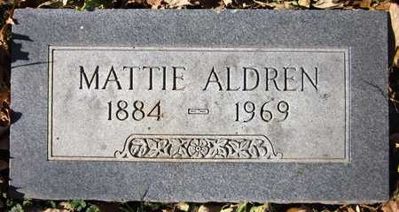 ALDREN, MATTIE - Sarpy County, Nebraska | MATTIE ALDREN - Nebraska Gravestone Photos
