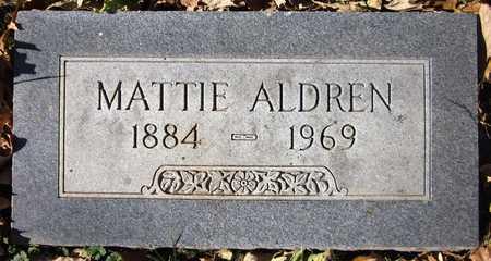 ALDREN, MATTIE - Sarpy County, Nebraska   MATTIE ALDREN - Nebraska Gravestone Photos