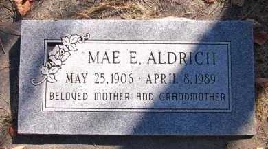 ALDRICH, MAE E. - Sarpy County, Nebraska | MAE E. ALDRICH - Nebraska Gravestone Photos