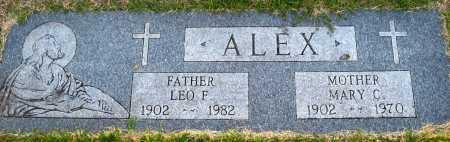 ALEX, LEO F. - Sarpy County, Nebraska | LEO F. ALEX - Nebraska Gravestone Photos