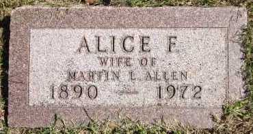 ALLEN, ALICE F. - Sarpy County, Nebraska   ALICE F. ALLEN - Nebraska Gravestone Photos