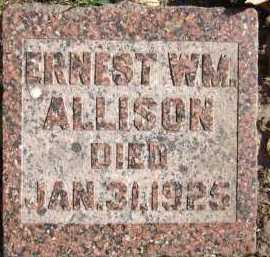 ALLISON, ERNEST WILLIAM - Sarpy County, Nebraska | ERNEST WILLIAM ALLISON - Nebraska Gravestone Photos