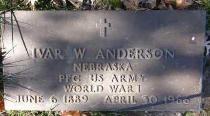 ANDERSON, IVAR W. - Sarpy County, Nebraska | IVAR W. ANDERSON - Nebraska Gravestone Photos
