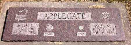 APPLEGATE, PAUL N. - Sarpy County, Nebraska | PAUL N. APPLEGATE - Nebraska Gravestone Photos