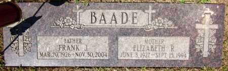 BAADE, ELIZABETH R. - Sarpy County, Nebraska | ELIZABETH R. BAADE - Nebraska Gravestone Photos