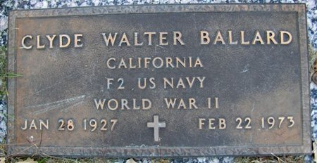 BALLARD, CYLDE WALTER - Sarpy County, Nebraska | CYLDE WALTER BALLARD - Nebraska Gravestone Photos