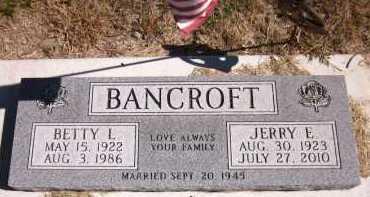 BANCROFT, BETTY L. - Sarpy County, Nebraska   BETTY L. BANCROFT - Nebraska Gravestone Photos