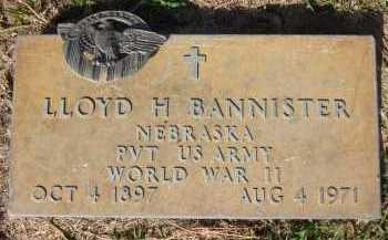 BANNISTER, LLOYD H. - Sarpy County, Nebraska | LLOYD H. BANNISTER - Nebraska Gravestone Photos