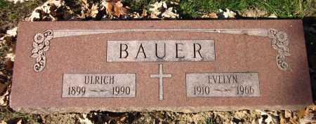 BAUER, EVELYN - Sarpy County, Nebraska   EVELYN BAUER - Nebraska Gravestone Photos