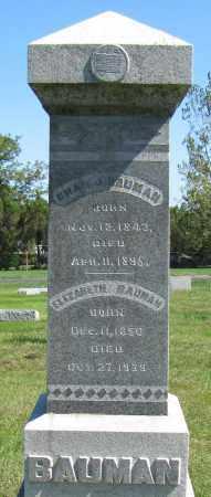 BALER BAUMAN, ELIZABETH - Sarpy County, Nebraska | ELIZABETH BALER BAUMAN - Nebraska Gravestone Photos