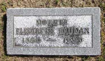BAUMAN, ELIZABETH - Sarpy County, Nebraska | ELIZABETH BAUMAN - Nebraska Gravestone Photos