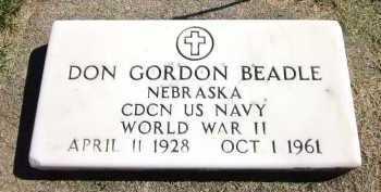 BEADLE, DON GORDON - Sarpy County, Nebraska | DON GORDON BEADLE - Nebraska Gravestone Photos