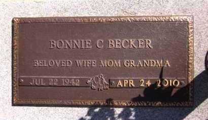 BECKER, BONNIE C. - Sarpy County, Nebraska | BONNIE C. BECKER - Nebraska Gravestone Photos