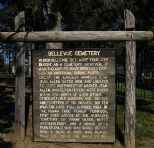 *BELLEVUE CEMETERY, HISTORY OF - Sarpy County, Nebraska | HISTORY OF *BELLEVUE CEMETERY - Nebraska Gravestone Photos
