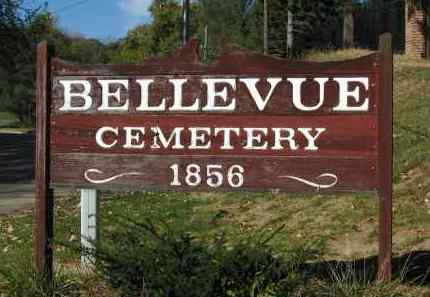*BELLEVUE CEMETERY, SIGN FOR - Sarpy County, Nebraska | SIGN FOR *BELLEVUE CEMETERY - Nebraska Gravestone Photos