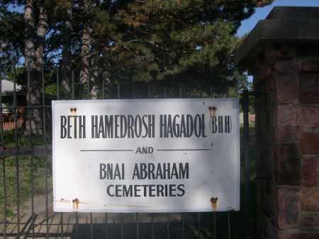 *BETH HAMEDROSH HAGADOL CEMETE, SIGN FOR - Sarpy County, Nebraska | SIGN FOR *BETH HAMEDROSH HAGADOL CEMETE - Nebraska Gravestone Photos