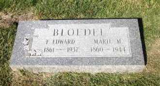 BLOEDEL, F. EDWARD - Sarpy County, Nebraska | F. EDWARD BLOEDEL - Nebraska Gravestone Photos