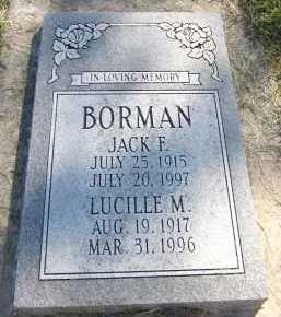 BORMAN, LUCILLE M. - Sarpy County, Nebraska | LUCILLE M. BORMAN - Nebraska Gravestone Photos