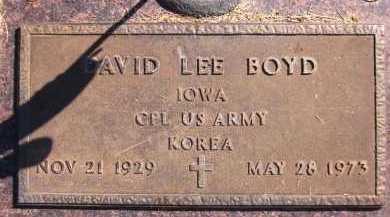 BOYD, DAVID LEE - Sarpy County, Nebraska | DAVID LEE BOYD - Nebraska Gravestone Photos