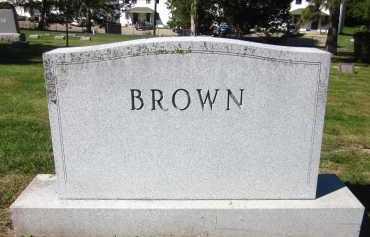 BROWN, FAMILY - Sarpy County, Nebraska   FAMILY BROWN - Nebraska Gravestone Photos