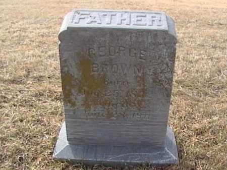 BROWN, GEORGE - Sarpy County, Nebraska   GEORGE BROWN - Nebraska Gravestone Photos