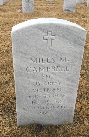 CAMPBELL, MILES - Sarpy County, Nebraska   MILES CAMPBELL - Nebraska Gravestone Photos