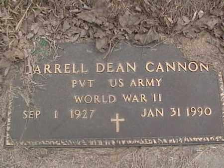 CANNON, DARRELL DEAN - Sarpy County, Nebraska | DARRELL DEAN CANNON - Nebraska Gravestone Photos