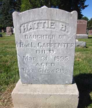 CARPENTER, HATTIE B. - Sarpy County, Nebraska | HATTIE B. CARPENTER - Nebraska Gravestone Photos