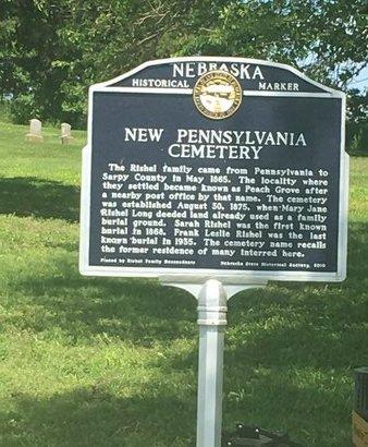 CEMETERY SIGN, NEW PENNSYLVANIA - Sarpy County, Nebraska | NEW PENNSYLVANIA CEMETERY SIGN - Nebraska Gravestone Photos