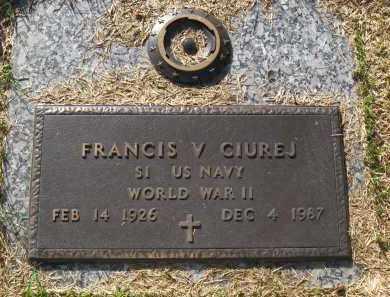 CIUREJ, FRANCIS V. - Sarpy County, Nebraska | FRANCIS V. CIUREJ - Nebraska Gravestone Photos