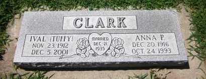 CLARK, IVAL (TUFFY) - Sarpy County, Nebraska | IVAL (TUFFY) CLARK - Nebraska Gravestone Photos