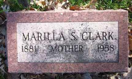 CLARK, MARILLA S. - Sarpy County, Nebraska | MARILLA S. CLARK - Nebraska Gravestone Photos