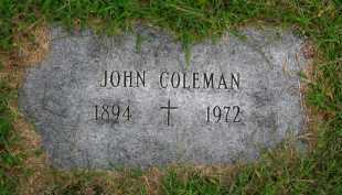 COLEMAN, JOHN - Sarpy County, Nebraska | JOHN COLEMAN - Nebraska Gravestone Photos