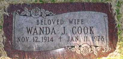 COOK, WANDA J. - Sarpy County, Nebraska | WANDA J. COOK - Nebraska Gravestone Photos
