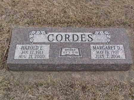 CORDES, HAROLD E. - Sarpy County, Nebraska | HAROLD E. CORDES - Nebraska Gravestone Photos
