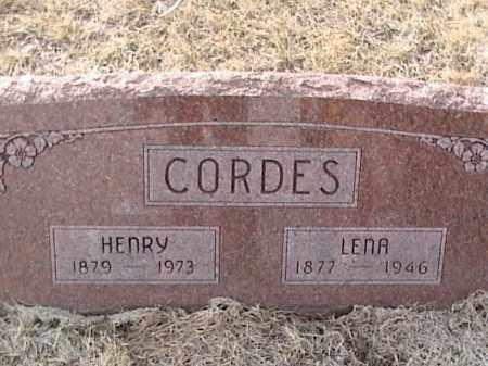 CORDES, LENA - Sarpy County, Nebraska | LENA CORDES - Nebraska Gravestone Photos