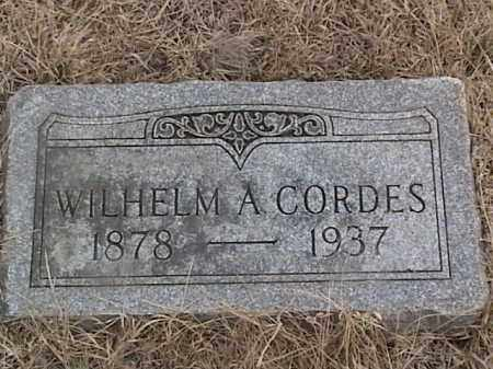 CORDES, WILHELM A. - Sarpy County, Nebraska | WILHELM A. CORDES - Nebraska Gravestone Photos