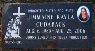 CUDABACK, JIMMAINE KAYLA - Sarpy County, Nebraska | JIMMAINE KAYLA CUDABACK - Nebraska Gravestone Photos