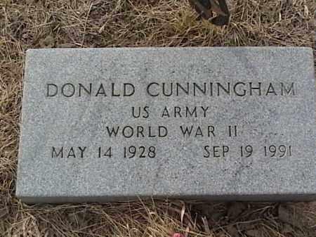 CUNNINGHAM, DONALD - Sarpy County, Nebraska | DONALD CUNNINGHAM - Nebraska Gravestone Photos