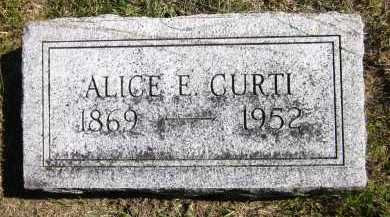 CURTI, ALICE E. - Sarpy County, Nebraska | ALICE E. CURTI - Nebraska Gravestone Photos