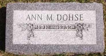 DOHSE, ANN M. - Sarpy County, Nebraska | ANN M. DOHSE - Nebraska Gravestone Photos