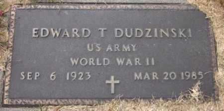 DUDZINSKI, EDWARD T. - Sarpy County, Nebraska | EDWARD T. DUDZINSKI - Nebraska Gravestone Photos