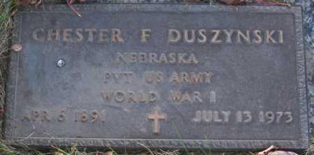 DUSZYNSKI, CHESTER F. - Sarpy County, Nebraska | CHESTER F. DUSZYNSKI - Nebraska Gravestone Photos