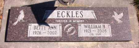 ECKLES, WILLIAM H. - Sarpy County, Nebraska | WILLIAM H. ECKLES - Nebraska Gravestone Photos