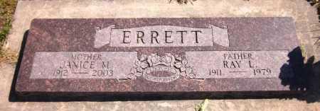 ERRETT, RAY L. - Sarpy County, Nebraska | RAY L. ERRETT - Nebraska Gravestone Photos
