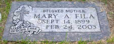 FILA, MARY A. - Sarpy County, Nebraska | MARY A. FILA - Nebraska Gravestone Photos