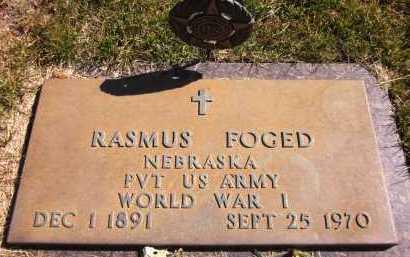 FOGED, RASMUS - Sarpy County, Nebraska | RASMUS FOGED - Nebraska Gravestone Photos